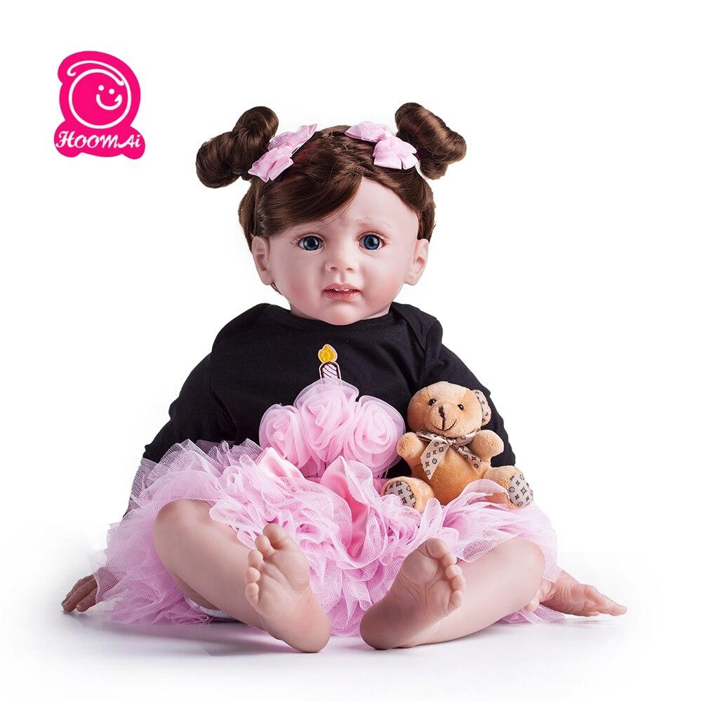 60 cm nouveau Design soeur fleur Silicone Reborn jouet réaliste vinyle princesse fille poupée de haute qualité lol noël et cadeau d'anniversaire