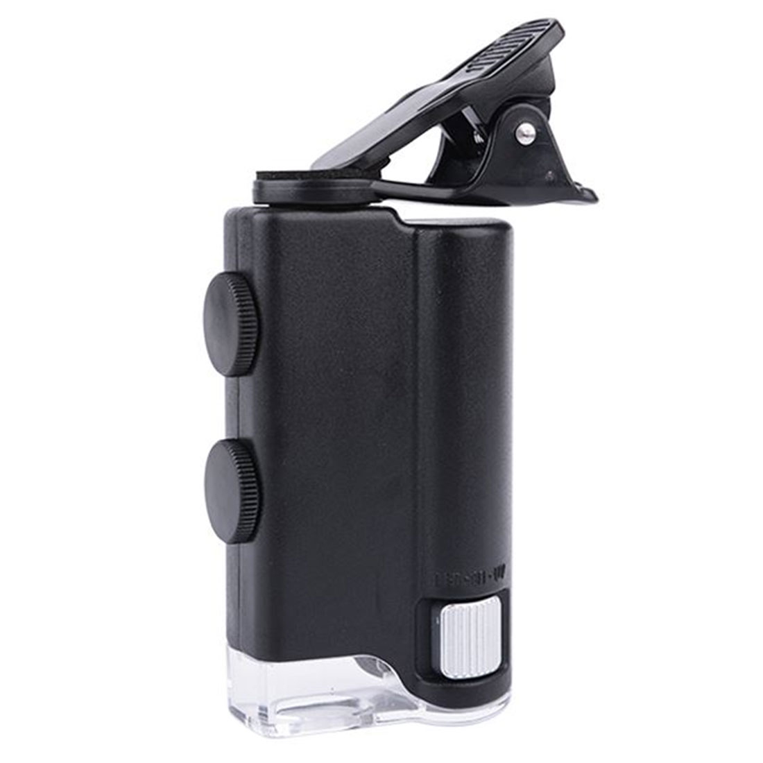 Portable 60x To 100x Zoom LED Microscope Pocket Magnifier Magnifying Loupe Glass