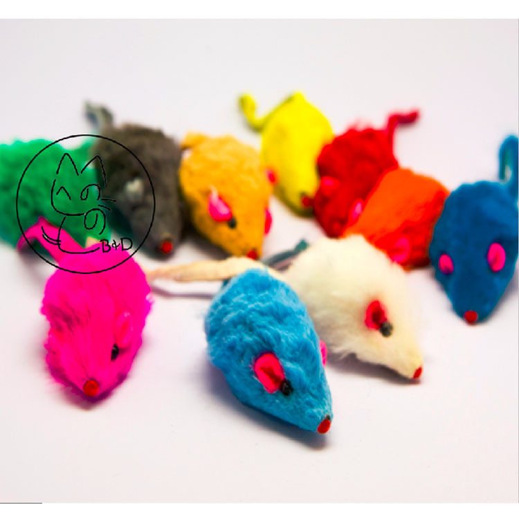 Rabbit Fur Mice Cat Toys