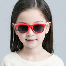 Girl Sunglasses Shades VIVIBEE Infant Frame Classic Polarized Square for Children Red