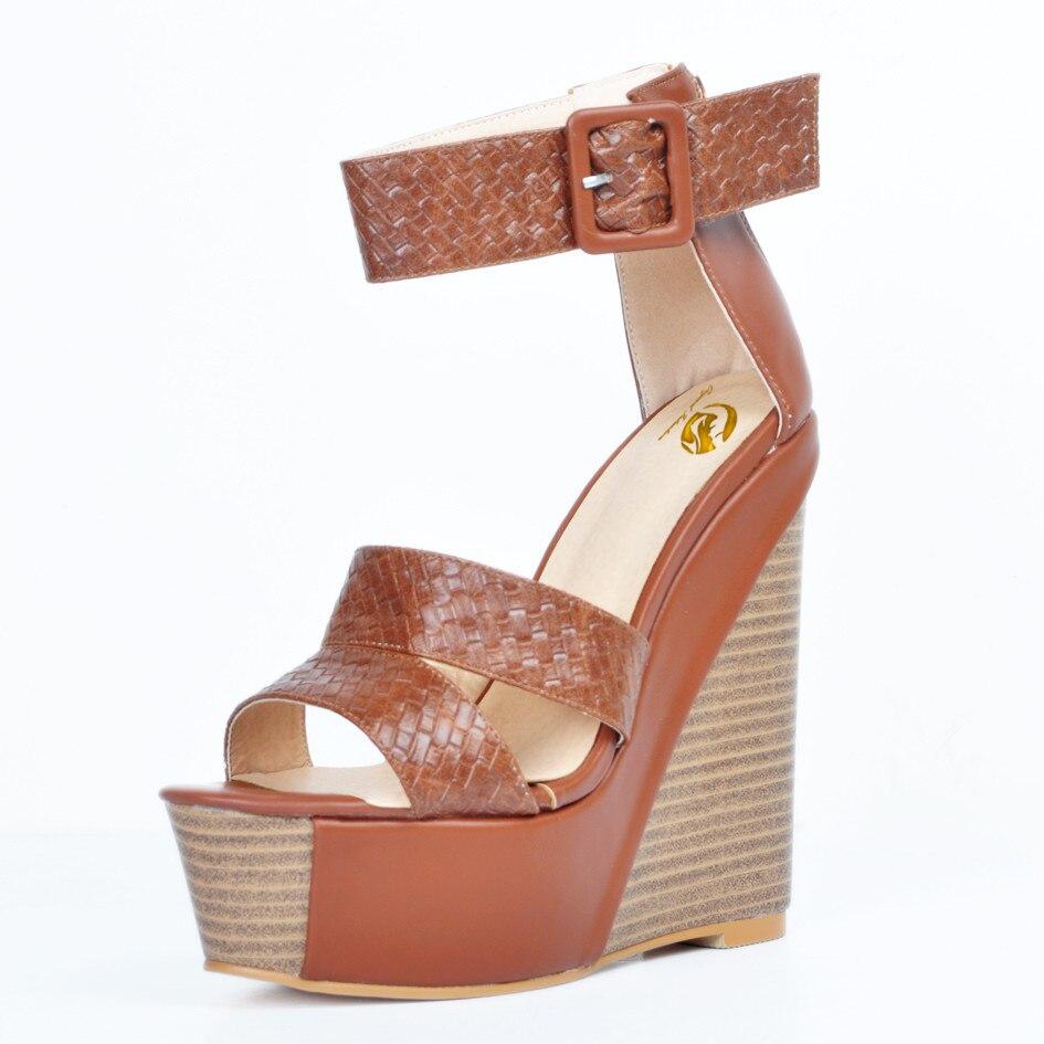 xd1072 Sandales 4 Cales Jaune Chaussures Plate Taille Xd1071 L'intention Initiale Plus 15 Nous Brun Femme Élégante Femmes Magnifique forme 1ZnCnqUH
