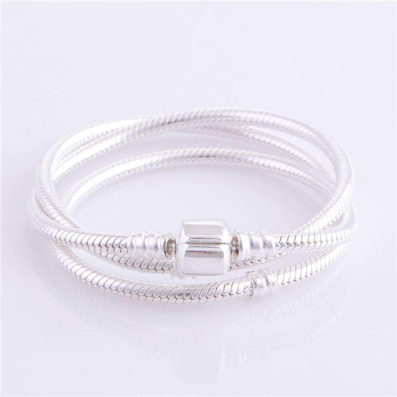 Serpent chaîne Long collier 925 en argent Sterling pendentifs à breloque colliers pour les femmes Original argent 925 bijoux
