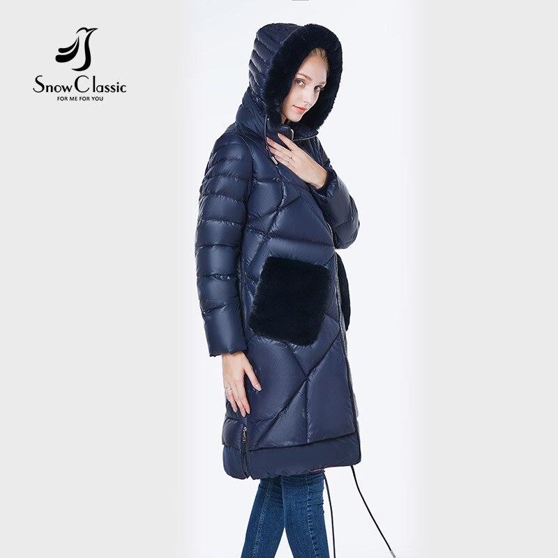 2018 delle donne del rivestimento camperas mujer abrigo invierno cappotto donne di parco Del Coniglio cappello di pelliccia tasca più il formato Antivento Europeo di design