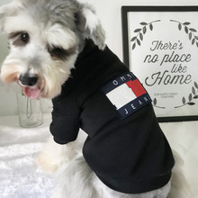 Собака Щенок толстовка Мода ТМ одежда для домашних животных черный
