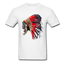 Red Chief Men T Shirt 3D American Indian Tribes Graphic T Shirts Summer  Autumn Male Brand 0677d446a