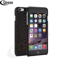 Qosea Luxe Voor iPhone X Case 3D Snake Skin Gedrukt Ontwerp Slang Hard Lederen Case Voor iPhone 7 8 Plus Telefoon Achterkant