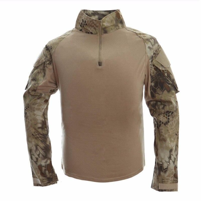 uniforme tático camisa com almofadas cotovelo camuflagem