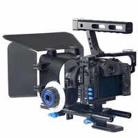 Profissional Handheld DSLR Camera Gaiola Estabilizador kit/Follow Focus/Matte Box Para Sony A7r A7s A7II Panasonic GH4 Câmara de vídeo