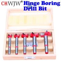 5pc Forstner Tips Hinge Boring Drill Bit Set For Carpentry Wood Window Hole Cutter Auger Wooden