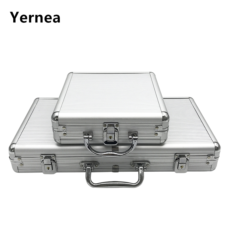 Entertainment Yernea High Quality Portable 100/300 Suitcase Poker Chips Box Non-slip Mat Aluminum Suitcase Texas Playing Card Chips Box