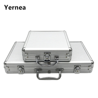 Yernea High Quality Portable 100/300 Suitcase Poker Chips Box  Non-slip Mat Aluminum Suitcase Texas Playing Card Chips Box