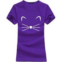 Kawaii KITTY KITTEN Meow Print Tshirt Women Cotton Funny Shirt For Lady fashion harajuku brand female t-shirt hipster punk tops