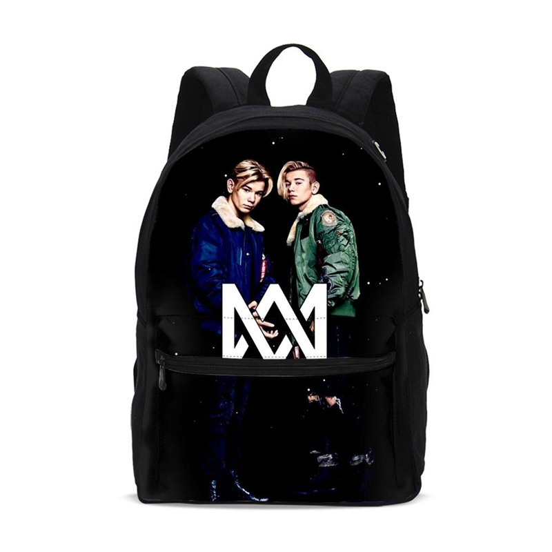 School Bags Teenage Boys Schoolbag Children Kids Backpacks Fashion Marcus And Martinus Prints Canvas Students Shoulder Bag Pack