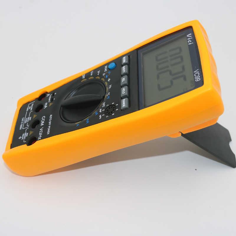 Цифровой мультиметр Vichy Vici VC99 3 6/7 с автоматическим диапазоном, с сумкой + зондом аллигатора + тепловым парным TK кабелем, 1 шт.
