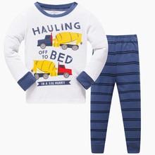 Cotton Vehicle Printed Pajamas for Boys and Girls  2 pcs Set