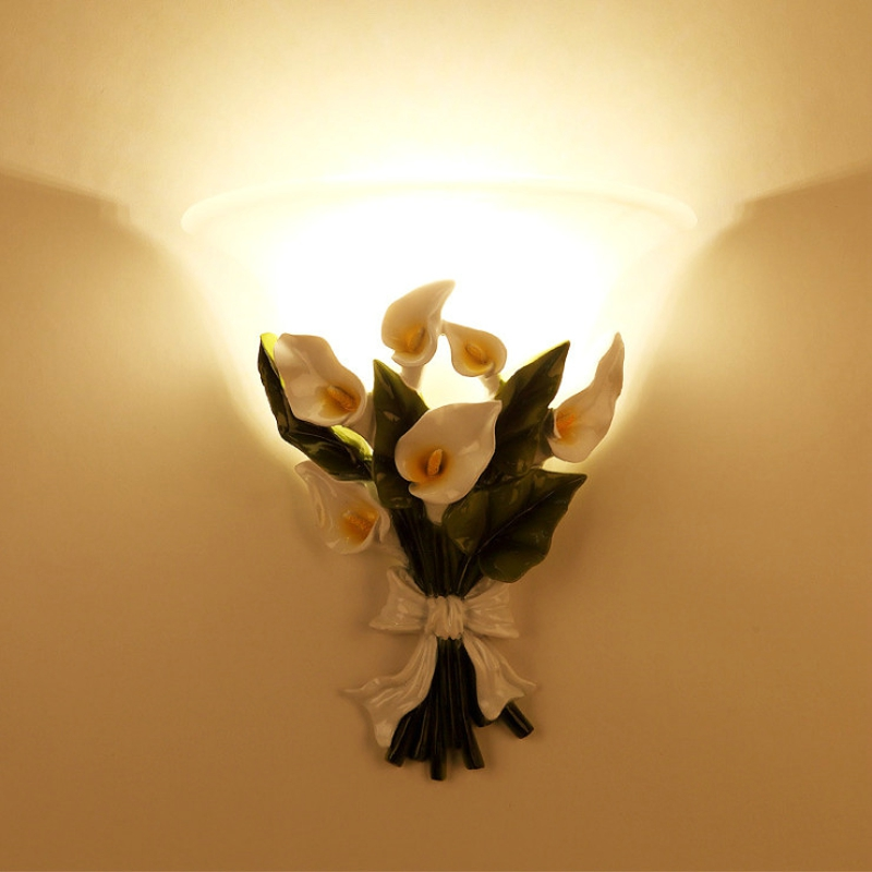 Novelty LED Wall lamps Fairy Flower Wall sconces E27 wall lights living room Bedroom lamp Corridor Stairs Aisle Home Decoration