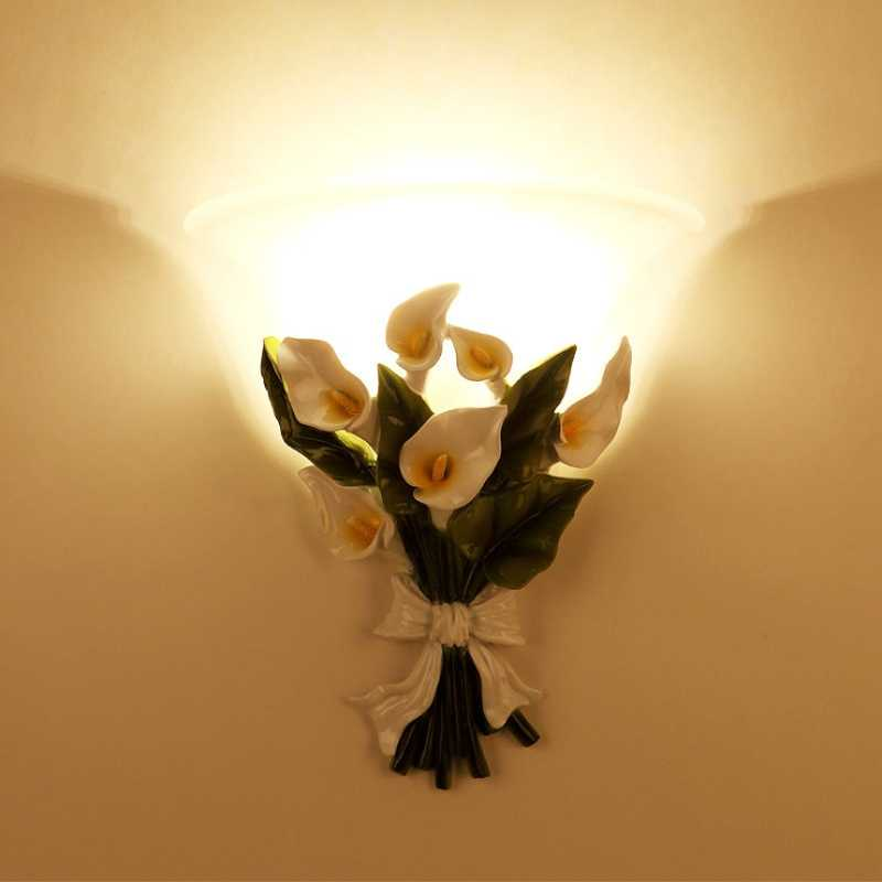 Novelty Led Wall Lamps Fairy Flower Sconces E27 Lights Living Room Bedroom Lamp Corridor