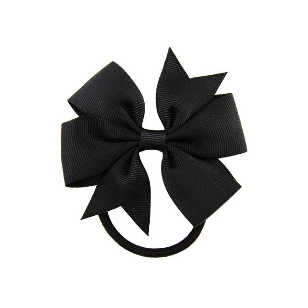 5pcs Cute Kids Hair Accessories Little Girl Head Grosgrain Ribbon Bow With Elastic Braid Bands Mini Bow Ponytail RopesJewelry