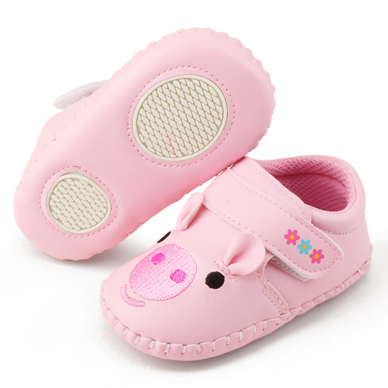 Newborn The Fashion Walker Cute Pig Girl Baby Shoes Soft And Comfortable Shoes Spring And Autumn Shoes 0-18M