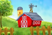 Red Barn Cottage Tree Fence Green Grass photo backdrop Vinyl cloth High quality Computer print party backgrounds