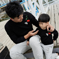 Семья смотреть мода марка хлопок набор мама папа ребенка мальчики девочки одежда, мать и дочь вышивка черри пчелы толстовка