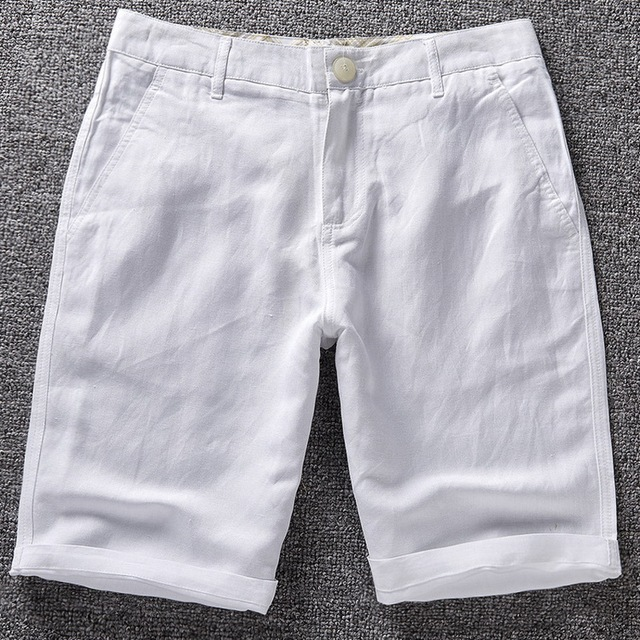 88f2297b13 Men's linen shorts men summer cotton beach short men brand 2016 new wild  leisure loose solid