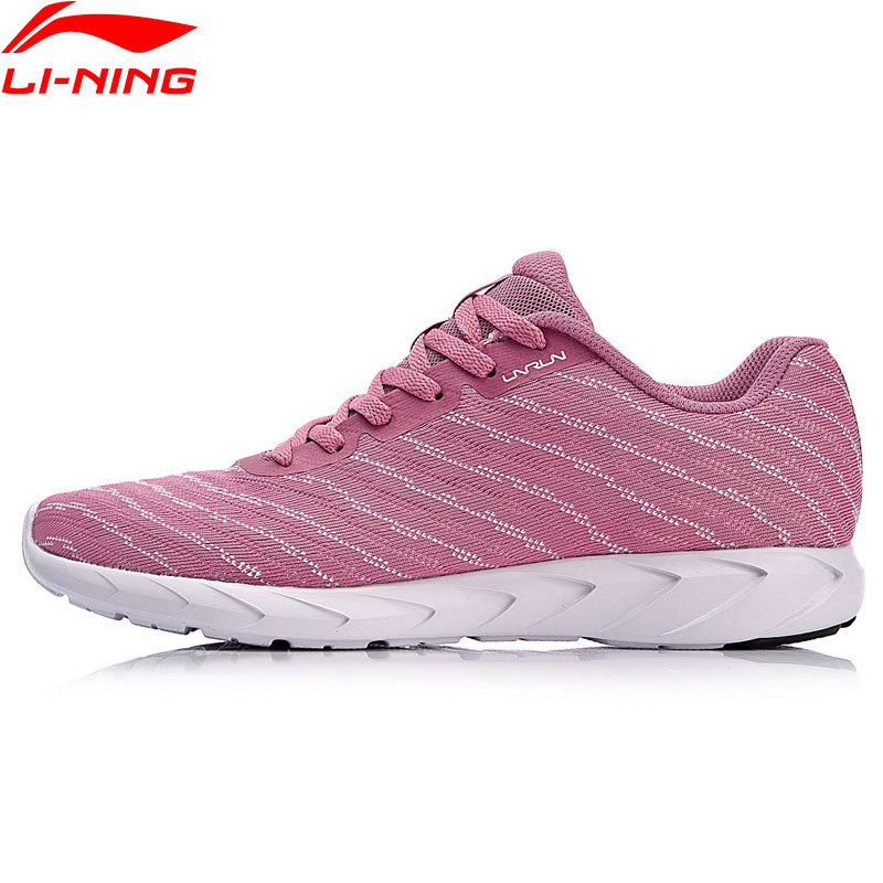 Li-Ning Women BASIC RUNER Running Shoes Mono Yarn LiNing Light Weight Breathable Sports Shoes Fitness Sneakers ARBN008 цена