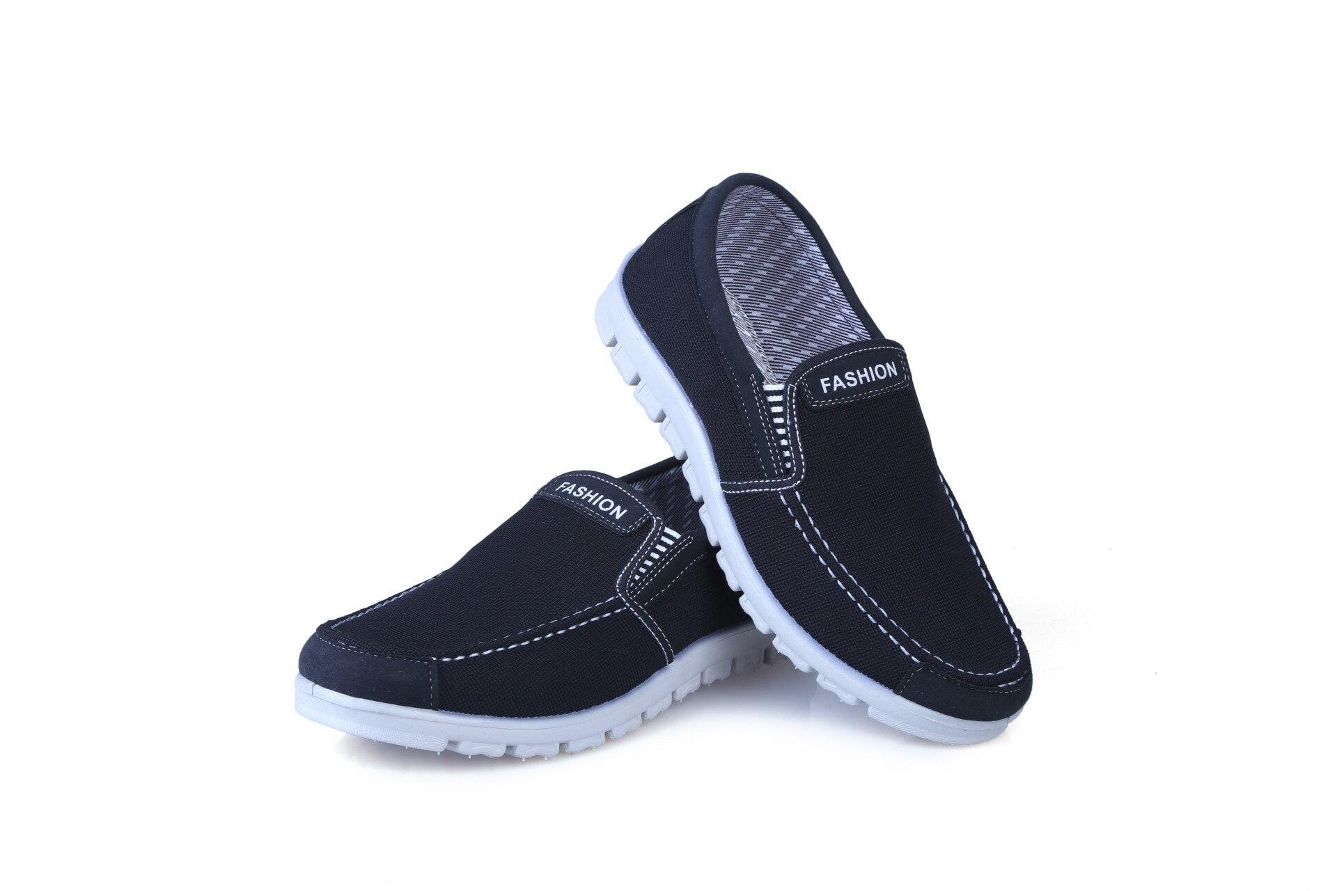 Autumn breathable canvas shoes men s sports shoes lazy shoes a pedal men s shoes