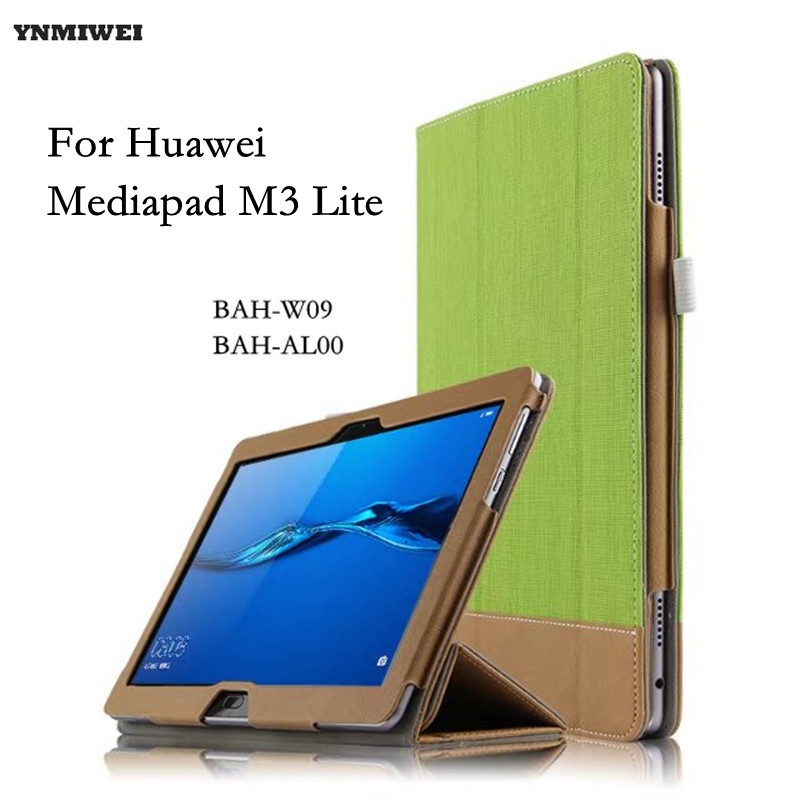 Tablet Case For Huawei MediaPad M3 Lite 10 Flip Leather Cover Cases For Media pad M3 Lite 10.1 BAH-W09 BAH-AL00 +protector new case for huawei media pad m2 lite ple 703l 7 cover pu leather flip folding case shell tablet pc cases stylus free shipping