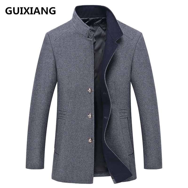 2018 autumn Mens high quality fashion casual stand collar jacket Mens trench coat jackets men coats windbreak size M-3XL