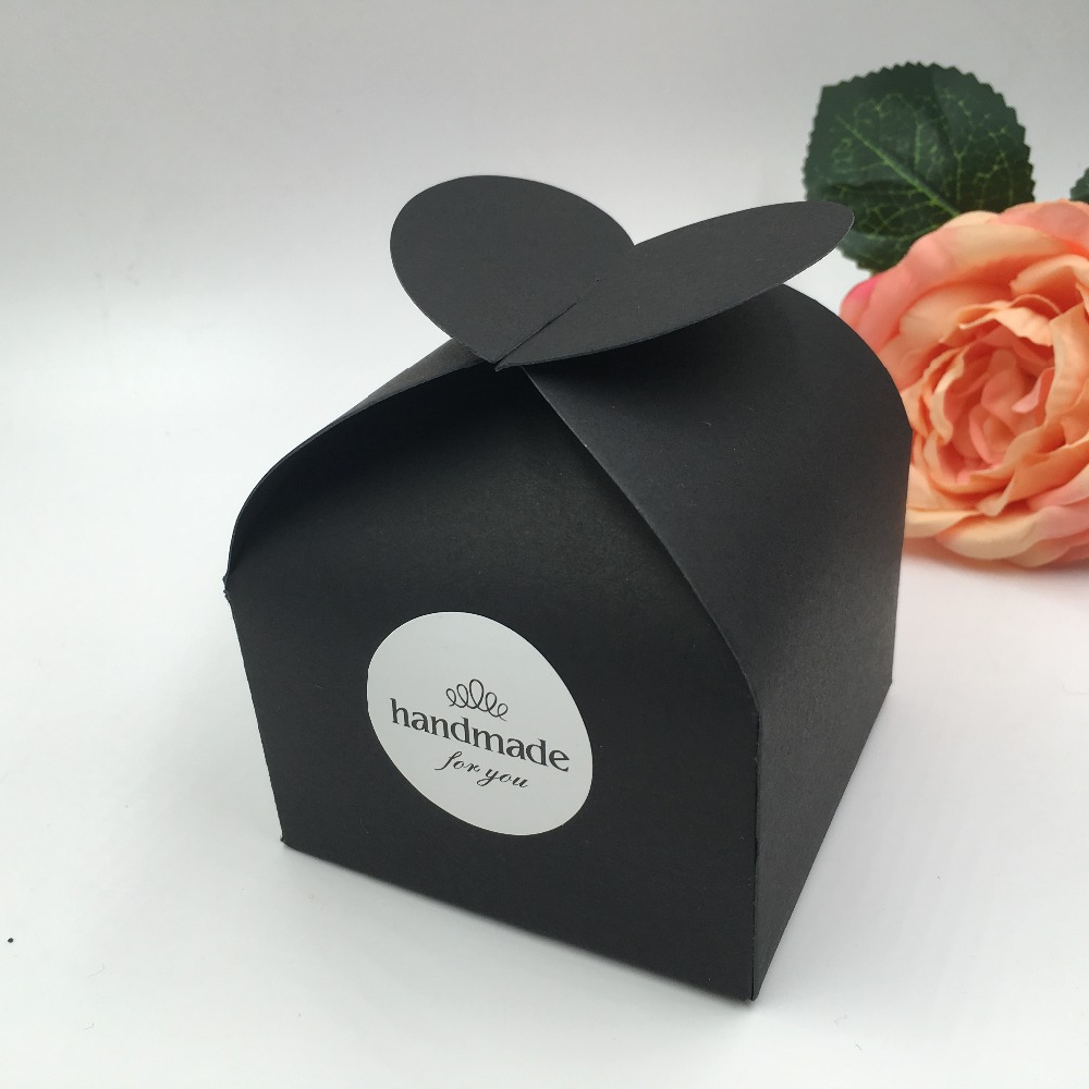 Nice Wedding Gift Ideas: 30pcs/lot Natural Black Paper Gift Box For Wedding