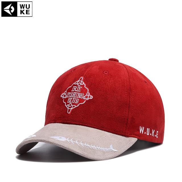 b94955f1a5a US $13.25 |Wuke 2017 New Casual Brand Baseball Cap Men Genuine Sports  Fishbone Snapback Caps Cotton Sun Fashion Casual Hats For Mens/Women-in  Men's ...