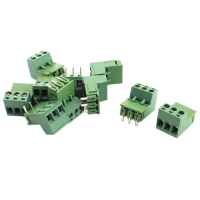10pcs 5 08mm Pitch 3 Pole PCB Mount Screw Terminal Block Cable Connector 1825242[pluggable terminal blocks 14 pos 5 08mm pitch thru h mr li