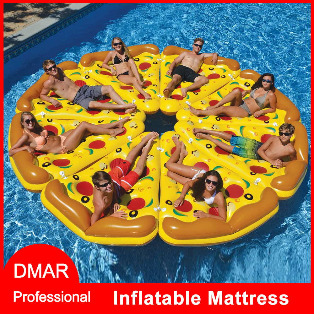 DMAR Inflatable Pizza Giant Pool Float Mattress 180CM Bed Sunbathe Beach Mat Swimming Ring Circle Water Party Toys dmar giant inflatable pool float floating row bed inflatable mattress swimming ring circle sunbathe sea summer water party toys