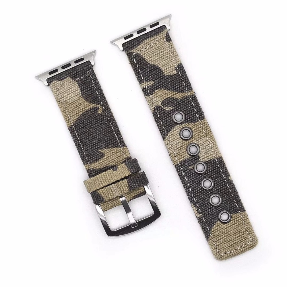 Military Army Nylon Band Strap for 38 42mm Apple Watch iwatch Woven Sports Outdoors Wristwatch Belt
