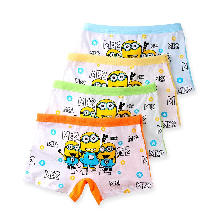 2 Pc Explosion Of Pure Cotton Children Underwear Pants Cartoon Boy's Boxer Clothing Comfortable