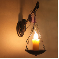 Retro lighting wall mounted lamp coffee shop wall sconce led reading lamp for bed restaurant wall lamp stair led light bedside
