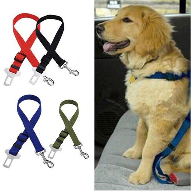 Ajustable 48~70cm Harness Dog Cat Car Vehicle Auto Seat Safety Belts 4 Colors 2.5cm Width Seatbelts Pet Accessories
