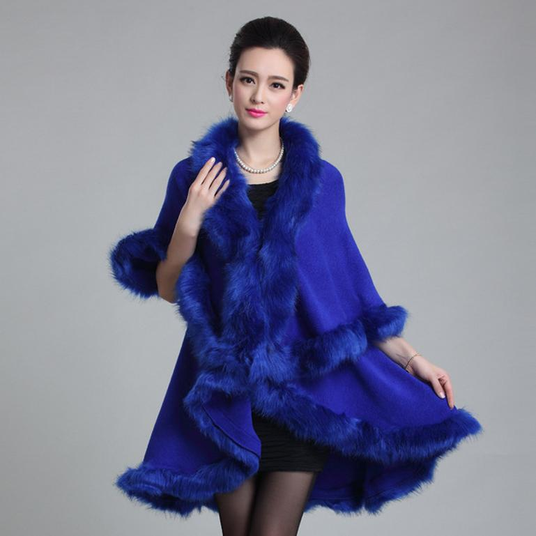 Shawl Imitation Fox Fur Shawl And Cape New Dress Code Double Knit Cardigan Temperament Imitation Of The Fox Fur 100588 Hot Sale 50-70% OFF Apparel Accessories
