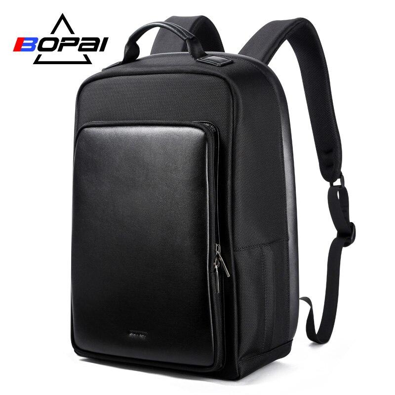 BOPAI 15,6 дюймов ноутбук рюкзак USB зарядка функция Anti Theft 15-дюймов 17 дюймов ноутбук рюкзак большой емкости мужской рюкзак