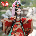 29cm China Exquisite Ancient Costume Dolls BRIDE MULAN  Chinese Ethnic Doll Movable Jointed 1/6 BJD Doll Girl Toys Kids Gift