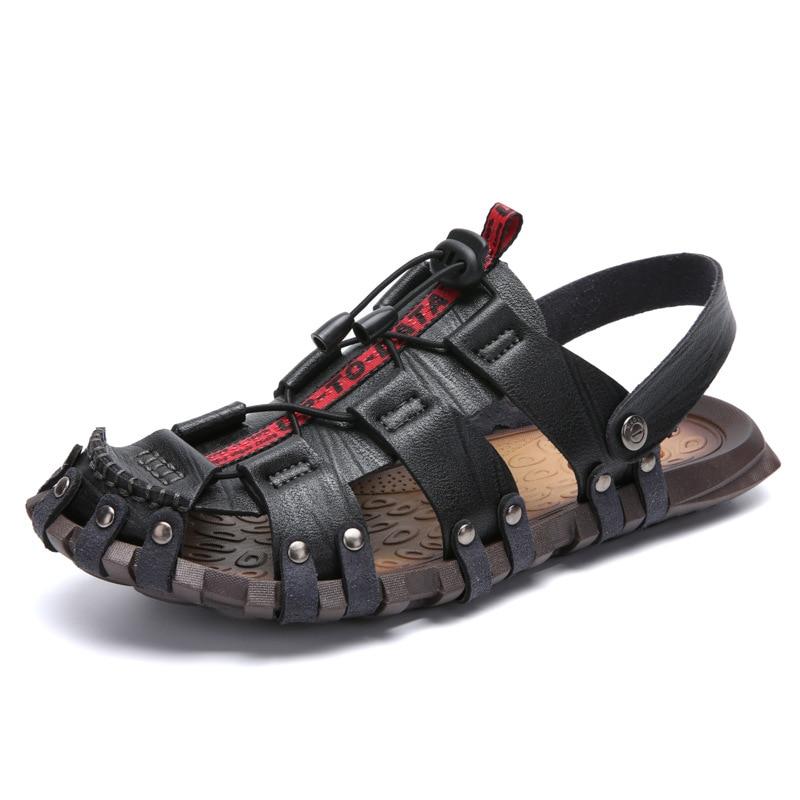 Baixos cáqui Moda Casuais Macio Sapatos Ka1181 De Marca Preto Verão Brown Praia Luxo Sandálias Da golden Couro Dos Homens Masculino red Rxwg1q8Afx