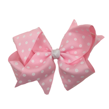 200pcs/lot Spots Floral Desgin Kids Ribbon Hair Bow Baby Girls Accessories Without Clip MOMLOVEDIY