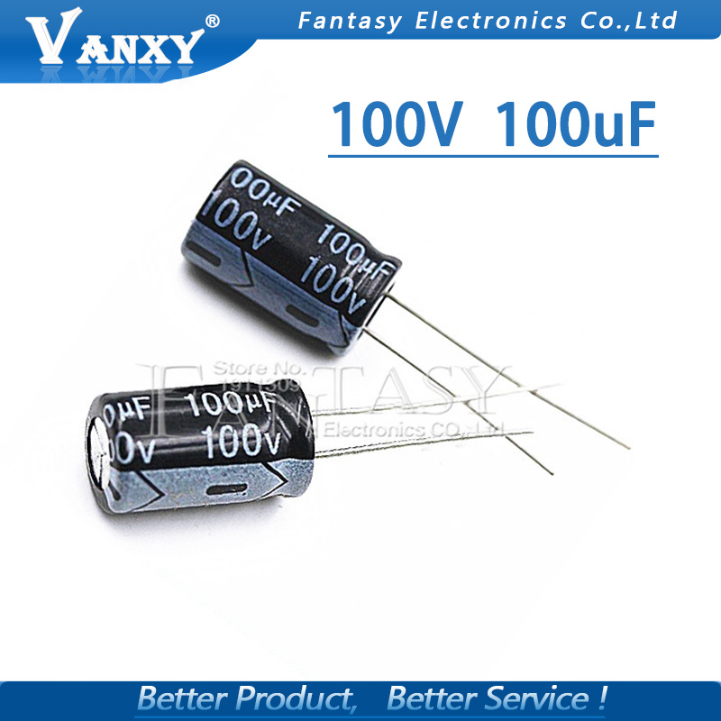 20PCS Higt Quality 100V100UF  10*17mm 100V 100UF 10*17 Electrolytic Capacitor