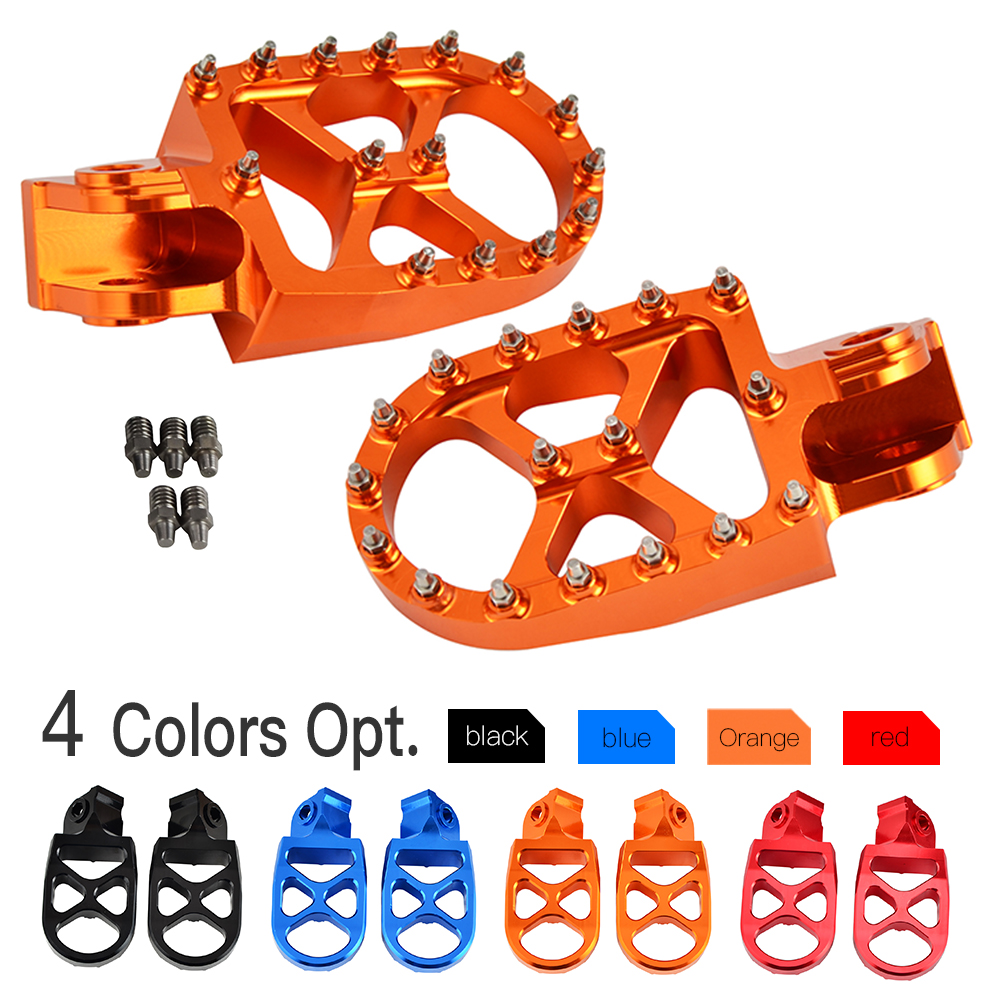 MX Racing Foot Pegs FootRests Pedals For KTM SX SXF EXC EXCF XC XCF XCW 50 65 85 125 200 250 300 350 450 530 FREERIDE 250R 300