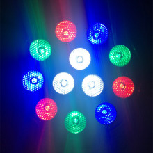 LED Par 12x3W Stage Light Mixing 8 DMX CH IP20 Led Dj for Party Disco EU Plug