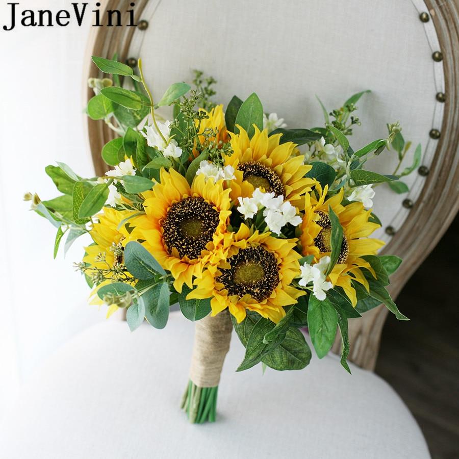 Flower Wedding Bouquets Ideas: Aliexpress.com : Buy JaneVini Beautiful Sunflower Bridal