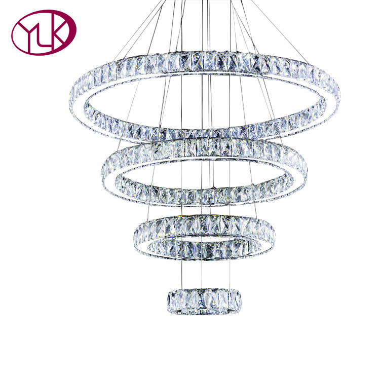 Youlaike Luxury LED Crystal Chandelier For Living Room Large Hotel Hall Lobby Hanging Lighting Fixture AC110-240V Cristal Lustre 15 heads gold candle led fixture crystal hanging chandelier lighting hotel villa chandeliers living room k9 clear cristal lustre