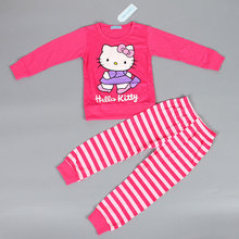 Keelorn Hot sale Pajama Sets  full sleeve cotton dot baby pajamas children lovely soft pajamas 2 pcs set baby girl clothes
