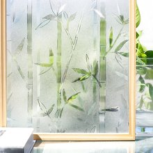 Funlife 3D Privacy Window Film Static Cling Glass Bamboo Frosted Films Vinyl Decorative Self-adhesive Sticker